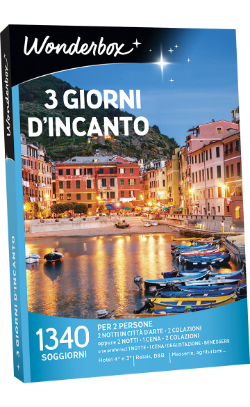 Cofanetto regalo 3 giorni d\'incanto - Box viaggi & week end - Wonderbox