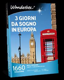 Cofanetto regalo 3 giorni da Sogno in Europa | Wonderbox